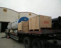 2014年WNS4-1.25-YQ燃气蒸汽锅炉两台湖南株洲发货